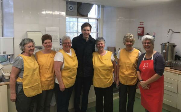 Paul Masterton MP with volunteers at Soup Stop