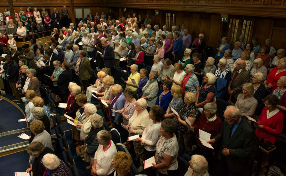The audience at the Guild's Big Sing event