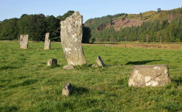 Standing stones near Kilmartin, Argyll