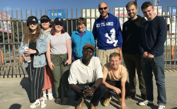 The group in Zambia