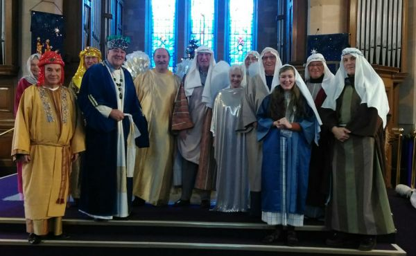 The cast of Lenzie Union Parish Church Christmas Experience