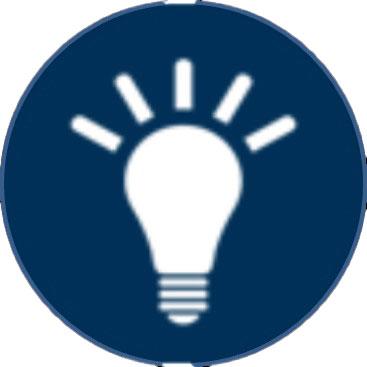 white lightbulb on blue background