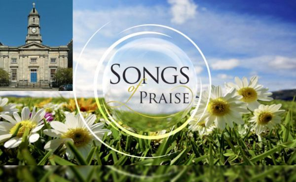 Songs of Praise logo with Stockbridge church