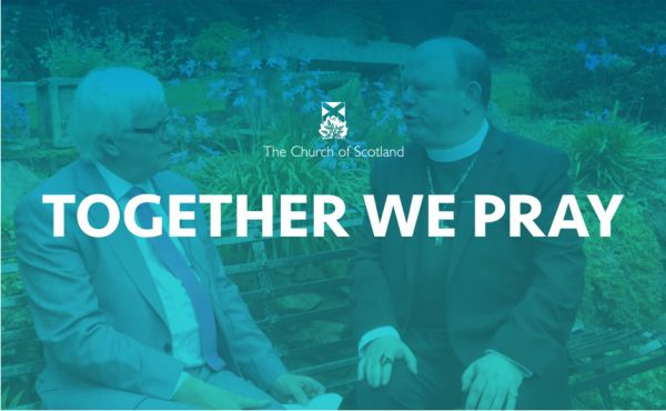 Together we pray logo with Rev Dr Derek Browning and Rev Dr Martin Scott