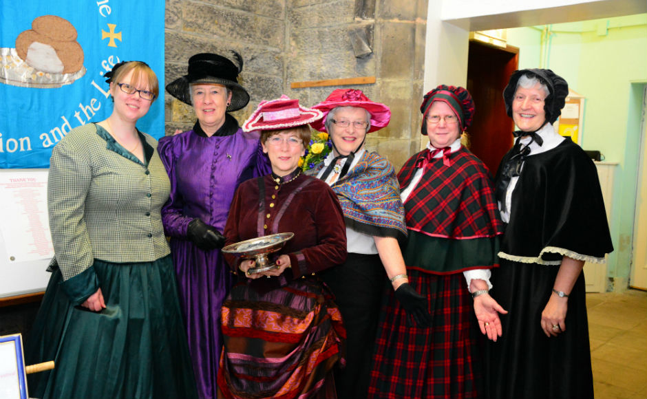 A group of ladies dressed as Victorians