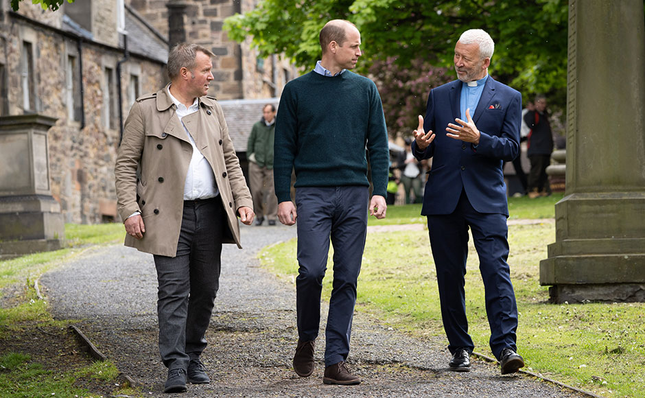 During his time there, The Duke met with founder and Greyfriars Kirk minister, Rev Dr Richard Frazer, as well as Chief Executive Officer Jonny Kinross.