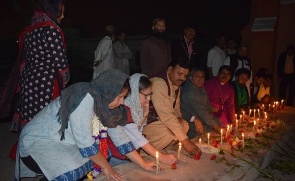 Candle lighting in Pakistan