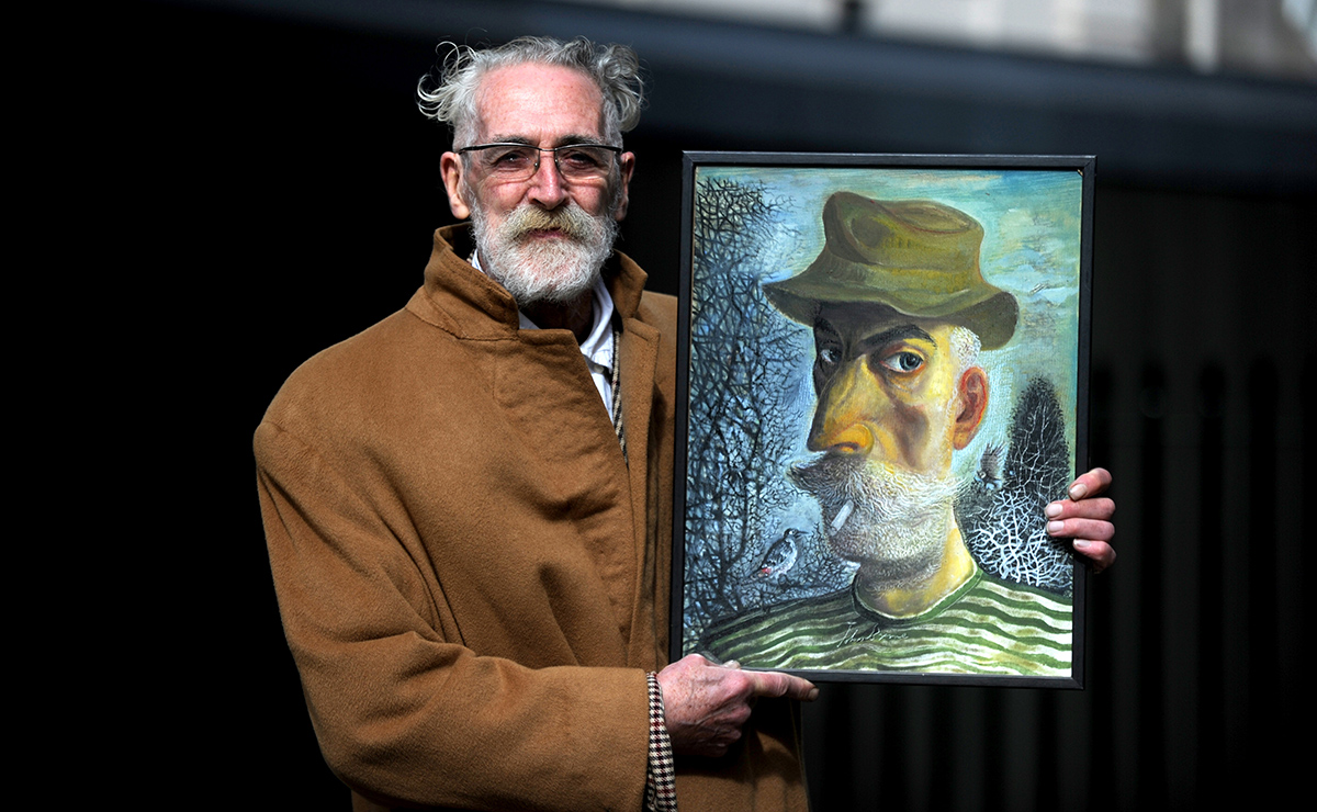 Artist and playwright John Byrne has donated a self portrait for the charity auction.