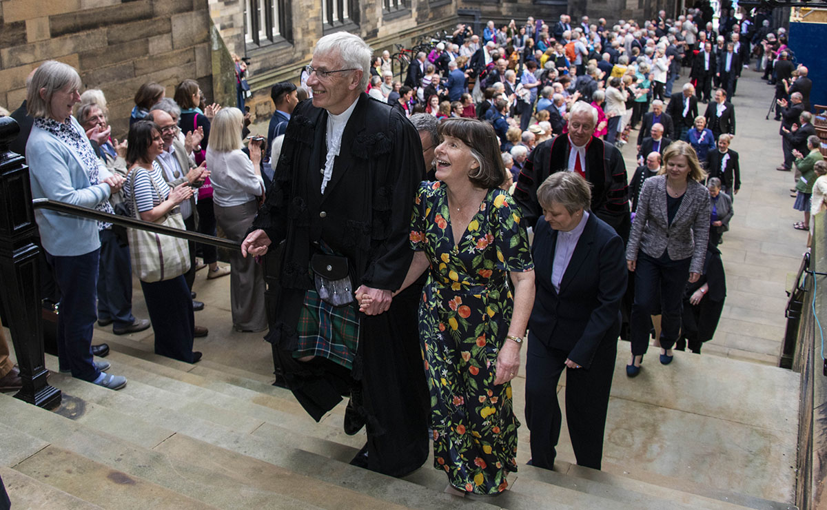Rt Rev Colin Sinclair and his wife Ruth at the General Assembly 2019