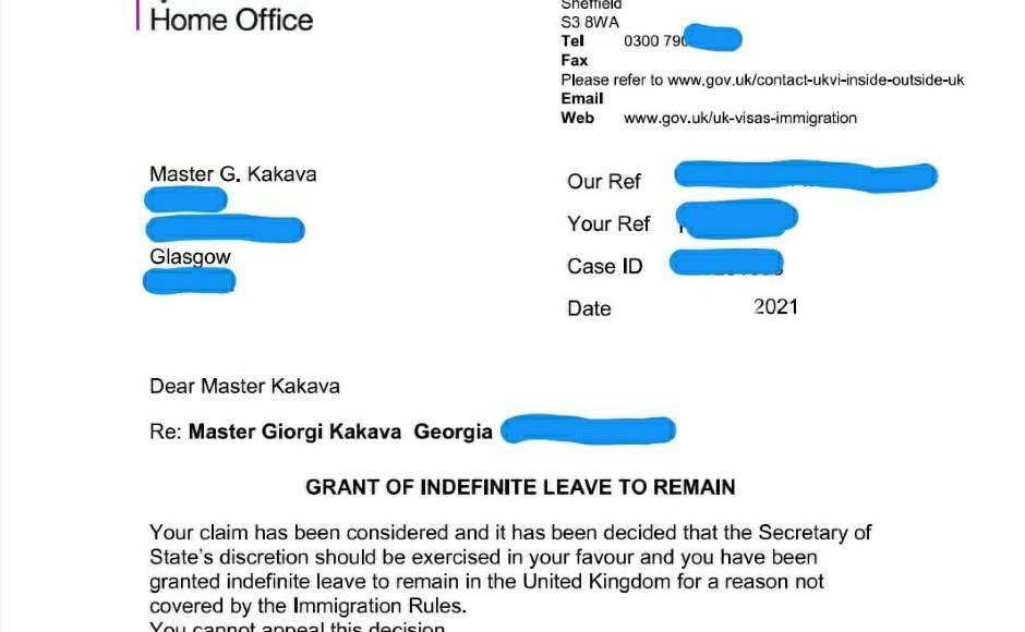 Giorgi Kakava letter