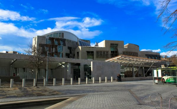 External View of the Scottish Parliament
