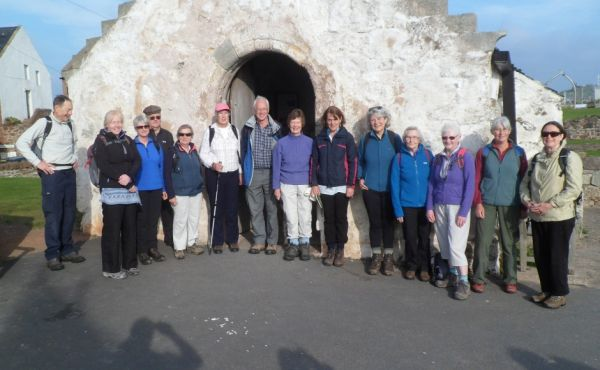Pilgrims at st Andrews Old Kirk North Berwick