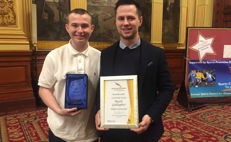 Award winner Brandon Donnelly with Mark Gallacher who was highly commended