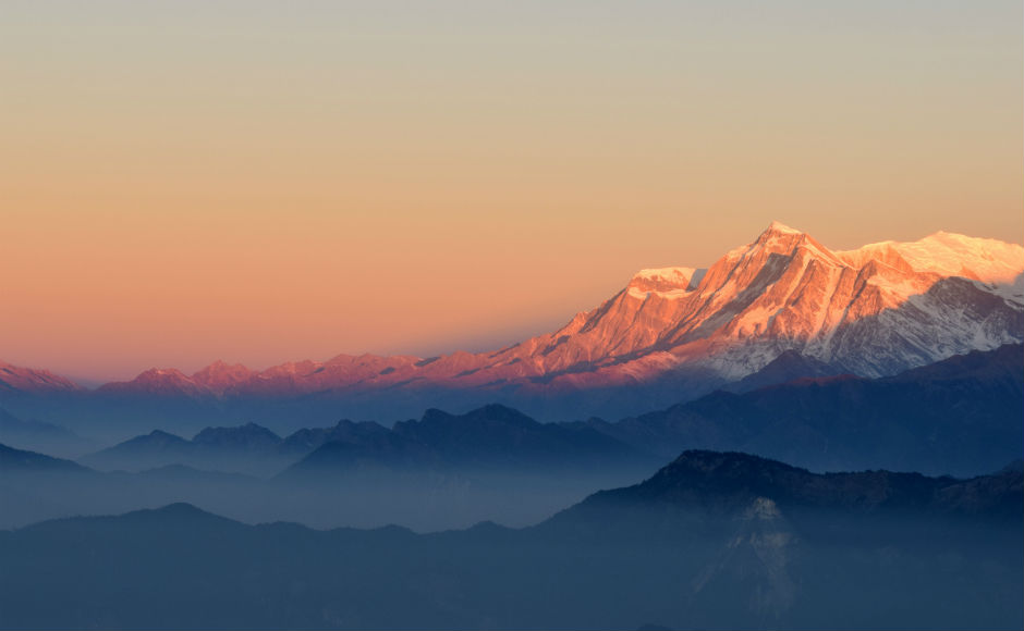 A view of the Himalayas