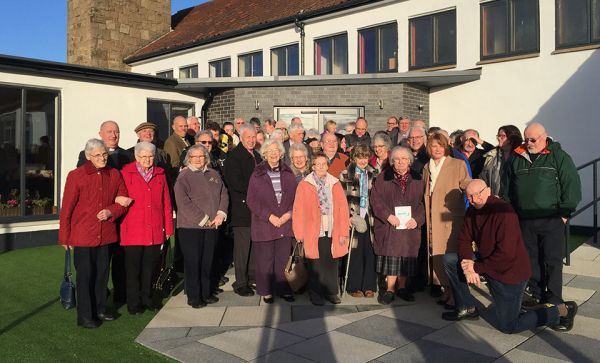 The congregation of Mayfield and Easthouses Church outside the newly refurbished building