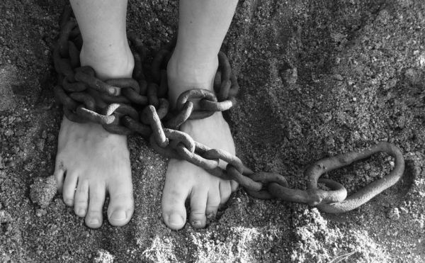 slavery in chains
