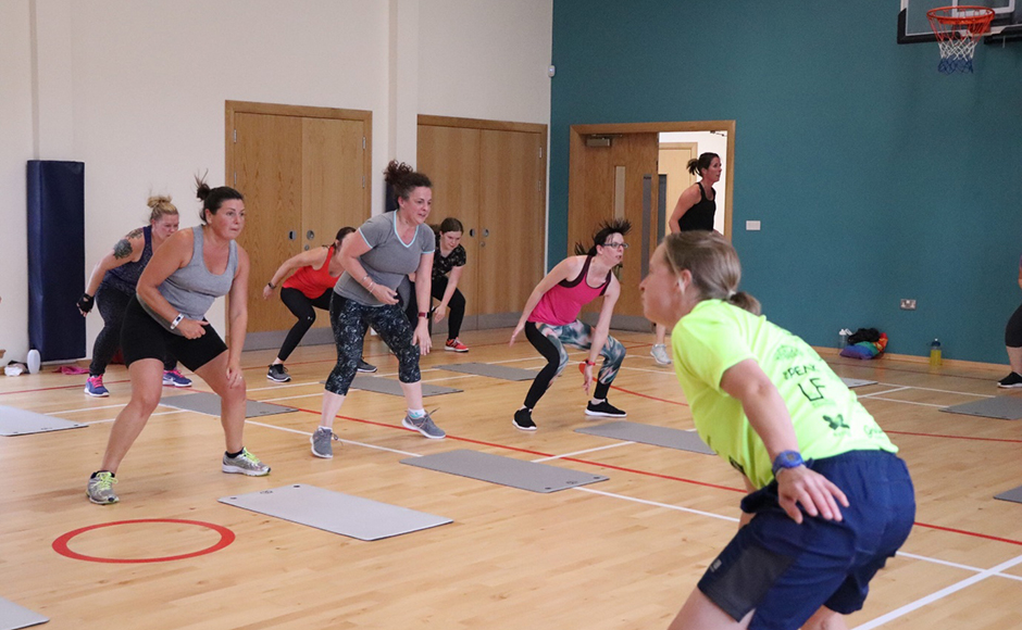 Women taking part in a fitness class