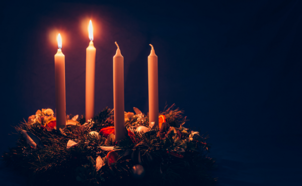 Second Sunday of Advent candle