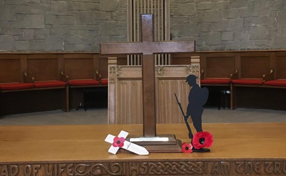 The cross has been in Blackhall St Columba's in Edinburgh since 1952